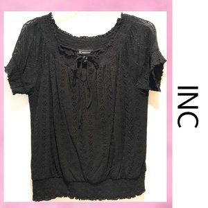 INC Lace Black Top XL